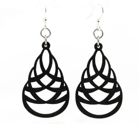 Laser Cut Drop Earring Design Free DXF File