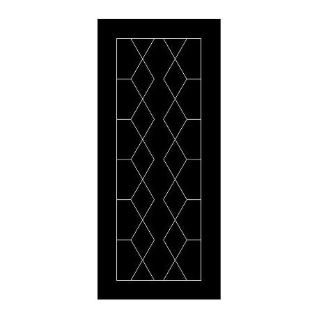 Laser Cut Door Engraved Design 58 Free DXF File