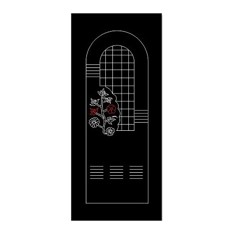 Laser Cut Door Engraved Design 59 Free DXF File