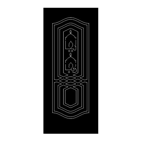 Laser Cut Door Engraved Design 62 Free DXF File