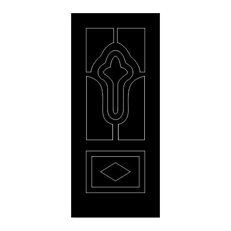 Laser Cut Door Engraved Design 64 Free DXF File
