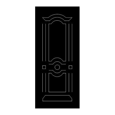 Laser Cut Door Engraved Design 65 Free DXF File