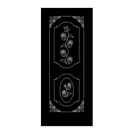 Laser Cut Door Engraved Design 66 Free DXF File