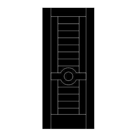 Laser Cut Door Engraved Design 68 Free DXF File