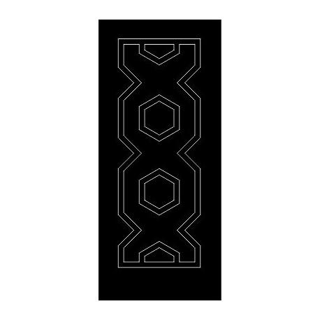 Laser Cut Door Engraved Design 69 Free DXF File