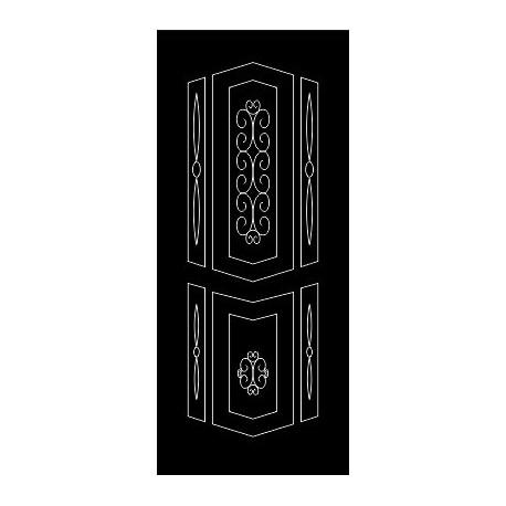Laser Cut Door Engraved Design 70 Free DXF File