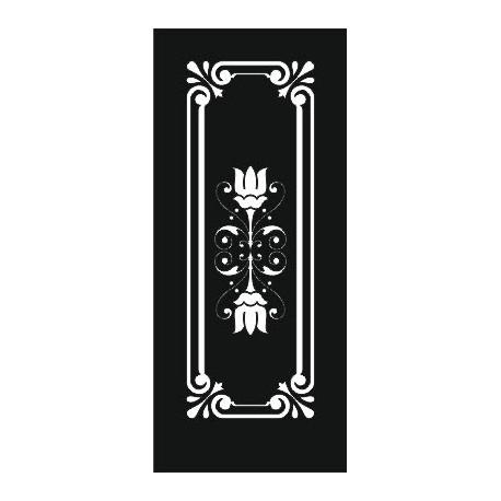 Laser Cut Door Engraved Design 76 Free DXF File