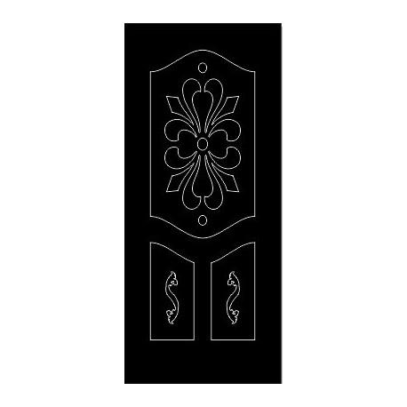Laser Cut Door Engraved Design 77 Free DXF File