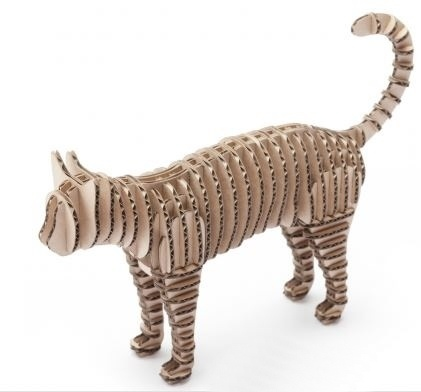 Cat 3d Puzzle Laser Cut Cnc Plans Free PDF File