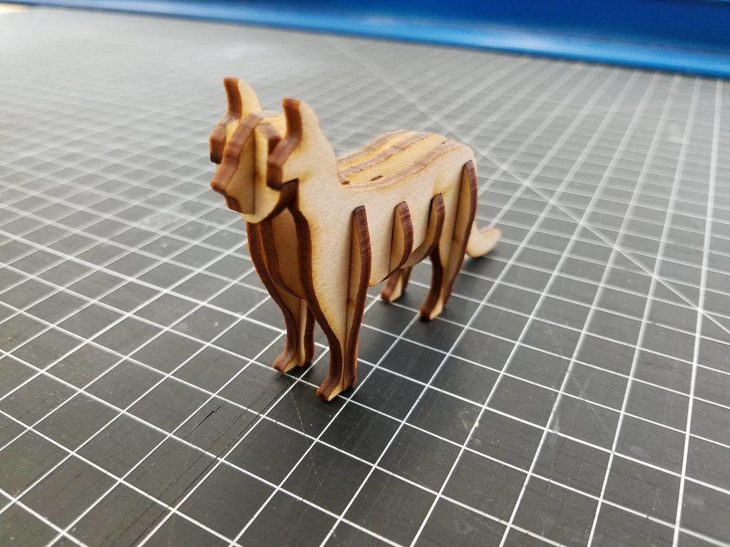 Laser Cut 3d Cat Template Free PDF File