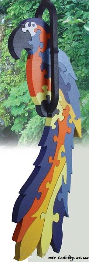 Hanging Macaw Puzzle Free PDF File