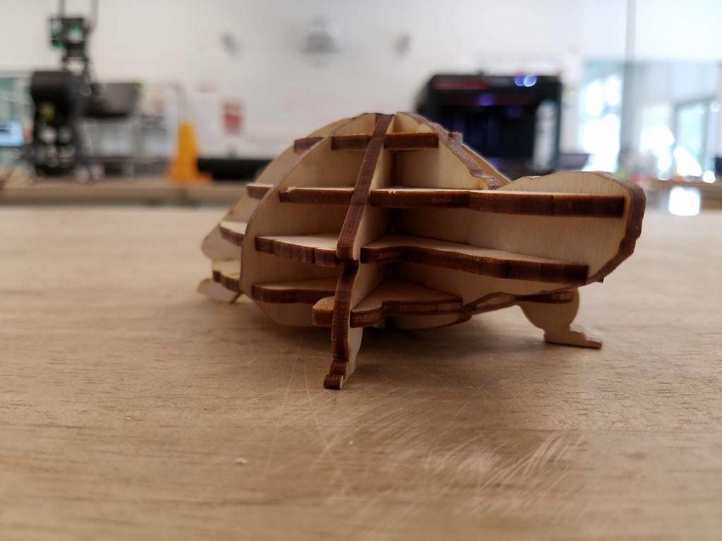 Turtle 3D Puzzle Free PDF File