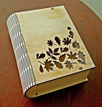 Laser Cut Book Box With Living Hinge Free CDR Vectors Art