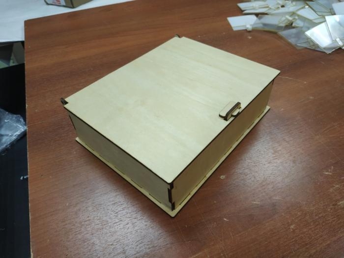Laser Cut Wooden Box With Lid 4mm Free CDR Vectors Art
