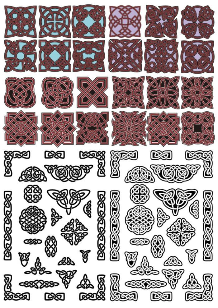 Vectors Celtic Ornaments Free CDR Vectors Art