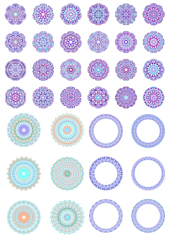 Vectors Round Ornaments Free CDR Vectors Art