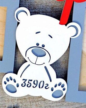 Laser Cut Teddy Bear Metric Free CDR Vectors Art