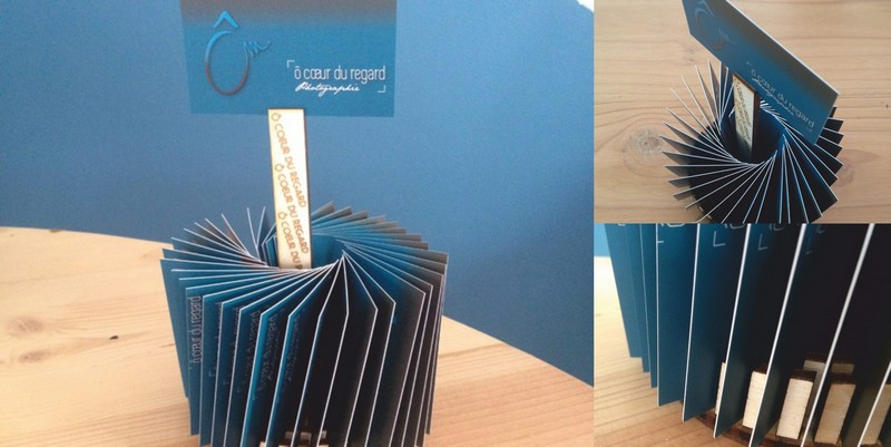Circular Business Card Holder Free CDR Vectors Art