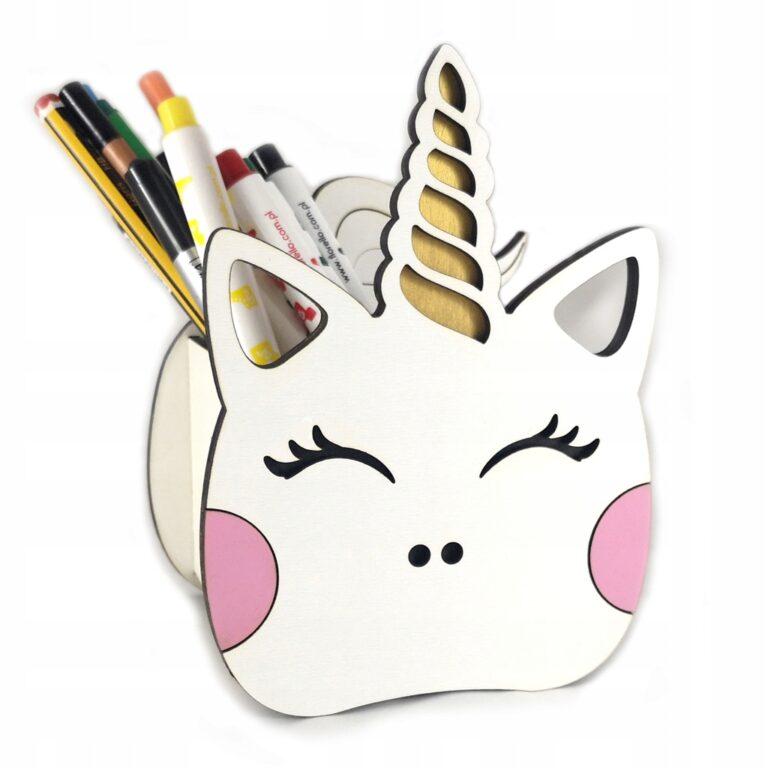 Unicorn Pen Holder Free CDR Vectors Art