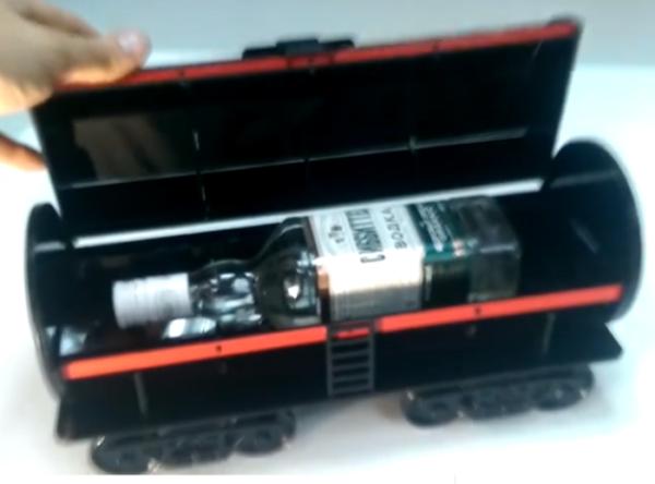 Wine Bottle Holder Tanker Train Free CDR Vectors Art