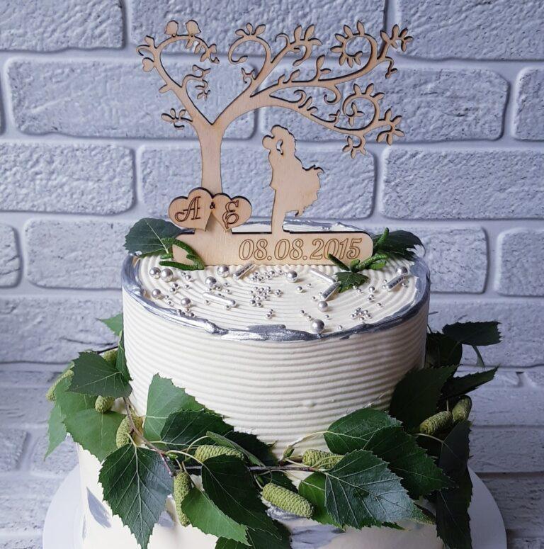 Wedding Cake Topper Free CDR Vectors Art
