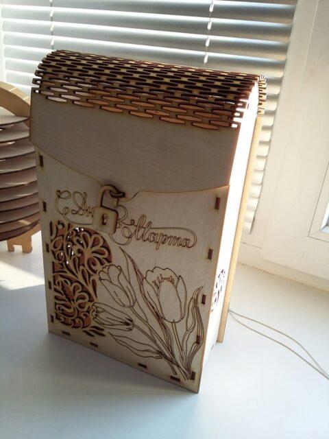 Laser Cut Decorative Wine Box Plywood Free CDR Vectors Art