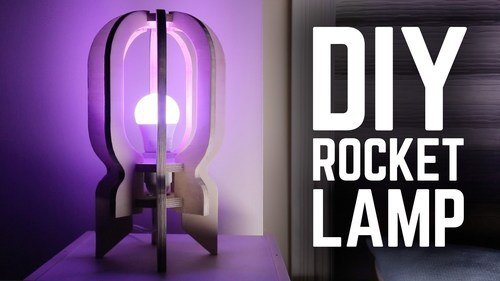 Diy Rocker Lamp Plan Laser Cut Free PDF File