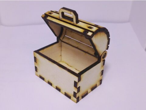 Laser Cut Toy Treasure Chest Box Free CDR Vectors Art