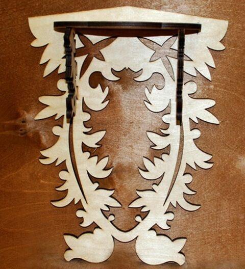Wall Mounted Wood Shelf Free CDR Vectors Art