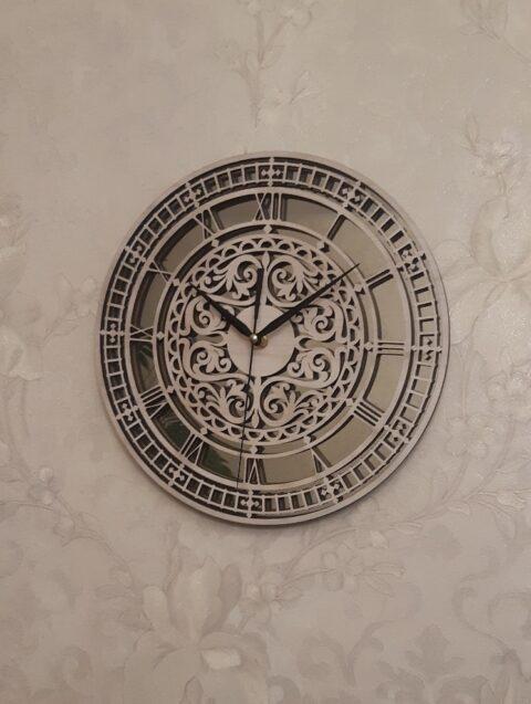 Laser Cut Carved Wall Clock Free CDR Vectors Art
