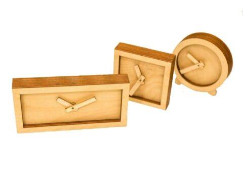 Laser Cut Wood Desk Clock Wooden Clock For Him Free CDR Vectors Art