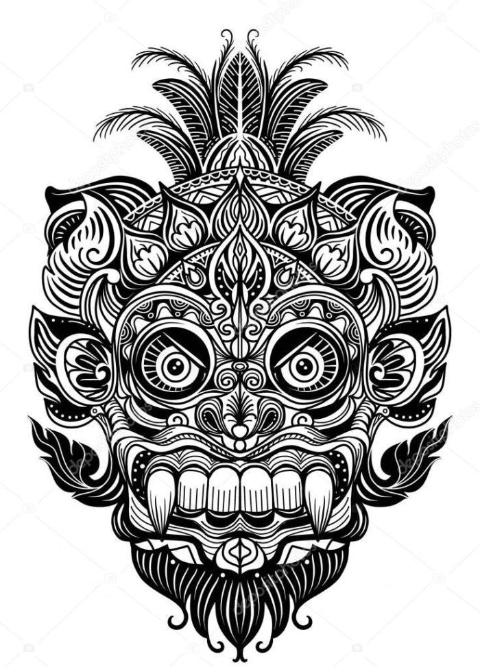 Laser Cut Engrave Maori Skull Patterns Designs Free CDR Vectors Art