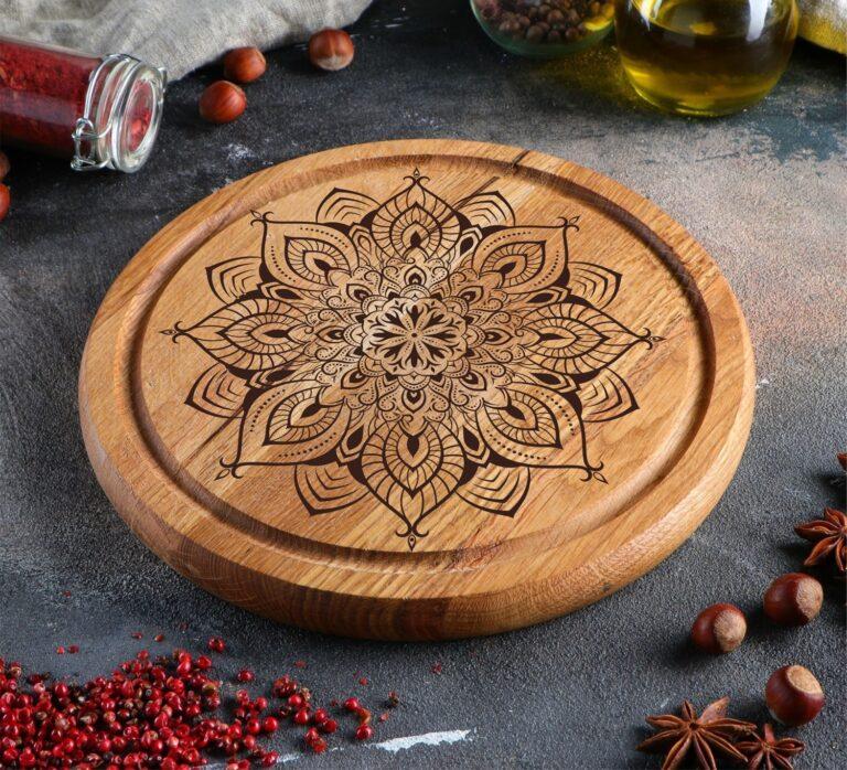 Laser Engraving Design Food Serving Board Free CDR Vectors Art