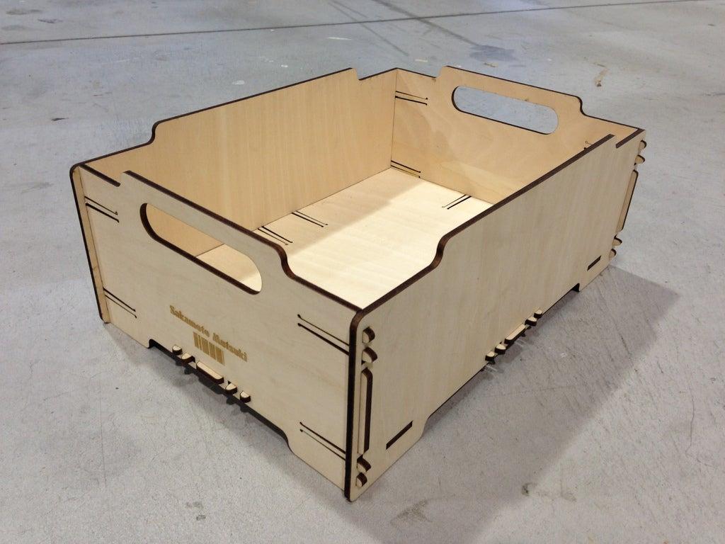 Laser Cut Stackable Box Mini 4mm Plywood Free AI File