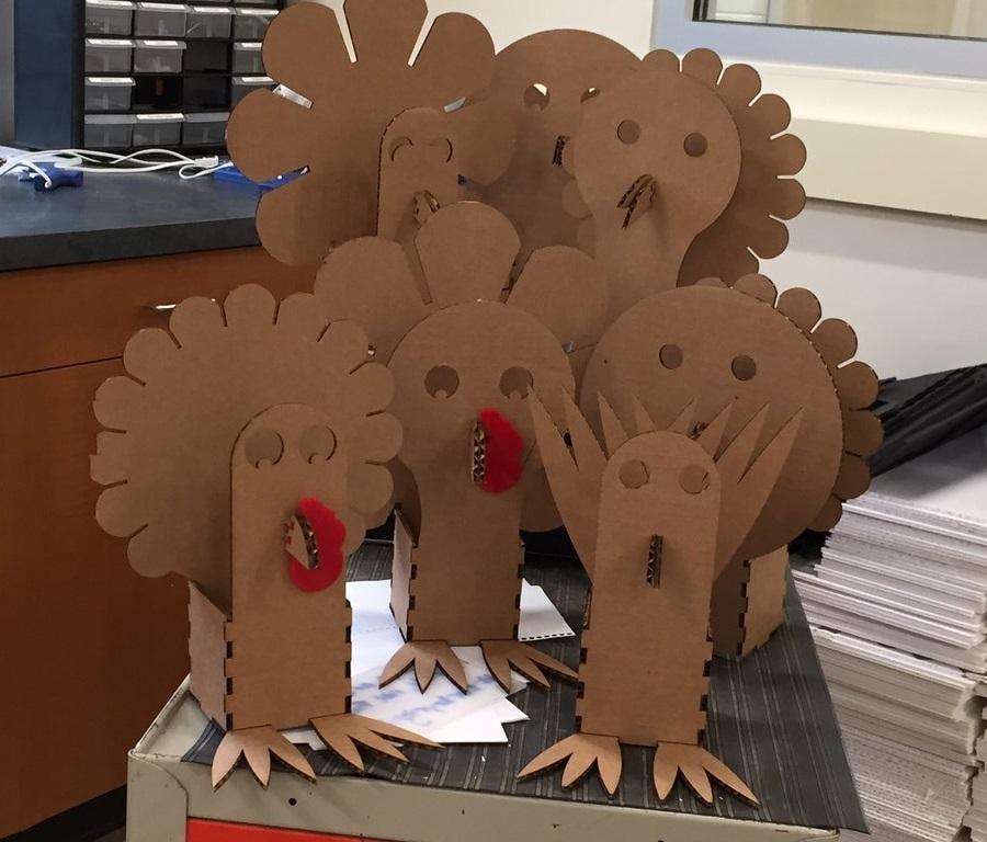 Laser Cut Turkey Box Thanksgiving Ideas Turkey Craft Free AI File