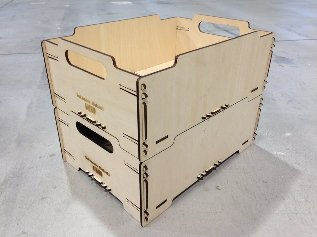 Stackable Box Mini 4mm Plywood Free AI File