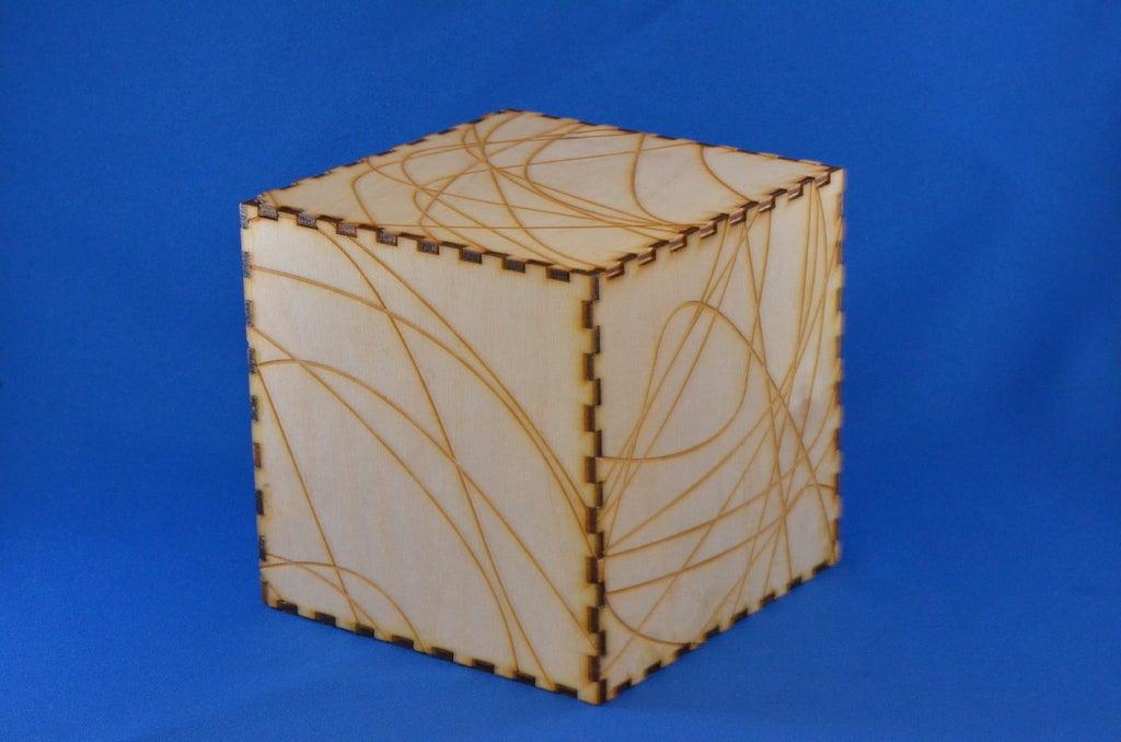 Wood Box Template Free AI File
