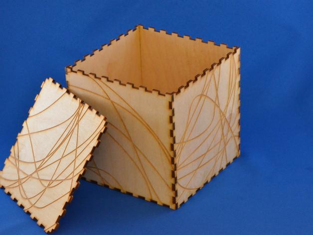 Wood Laser Cut Box Free AI File