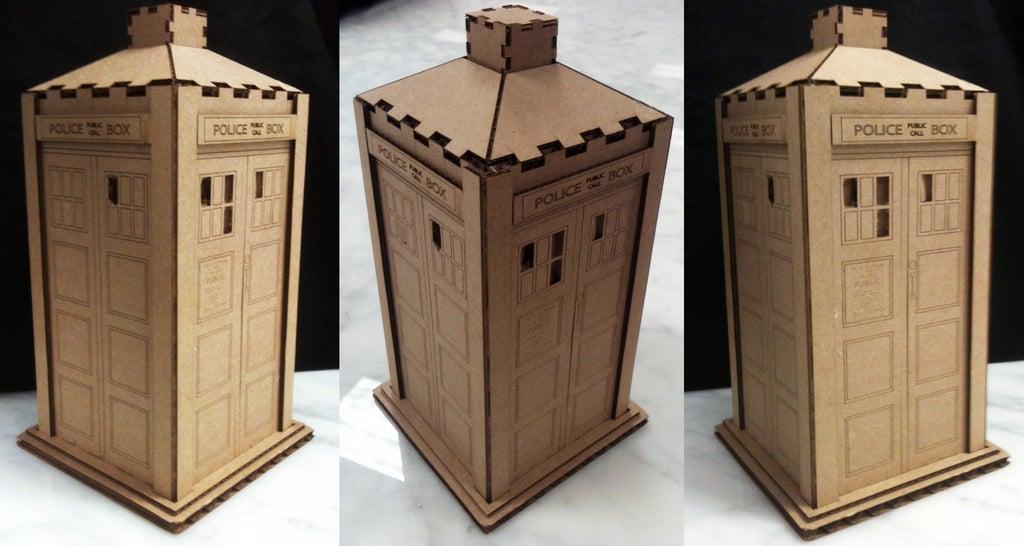 Wooden Police Box Tardis Toy Free AI File