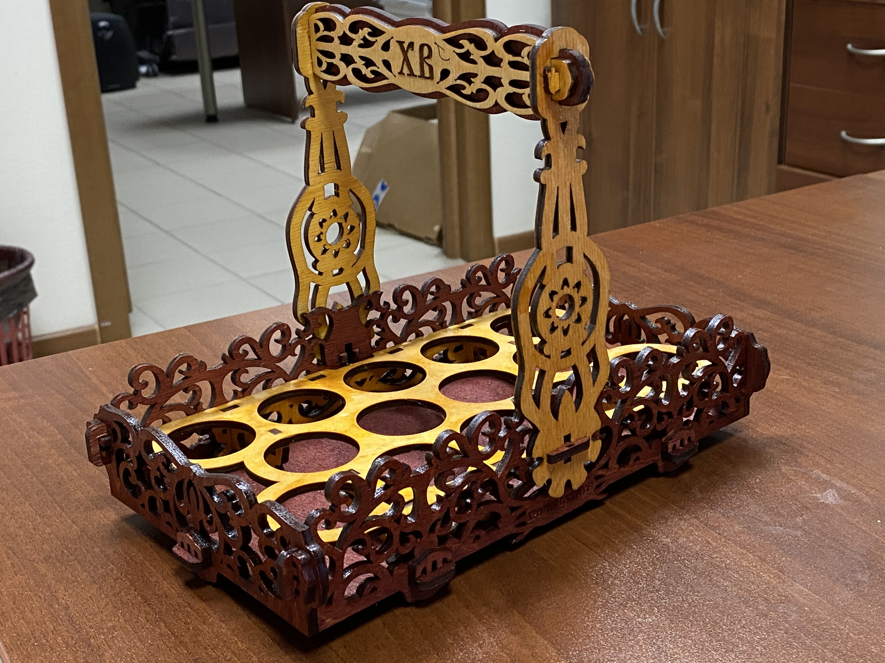 Laser Cut Easter Basket Wooden Easter Gift Free CDR Vectors Art