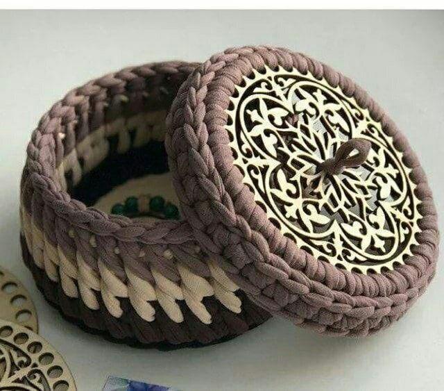 Laser Cut Wooden Bottoms For Knitting Baskets Crochet Basket Bases Free CDR Vectors Art