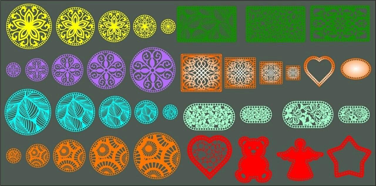 Laser Cut Wooden Bottoms For Knitting Baskets Free CDR Vectors Art