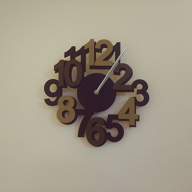 Laser Cut Contemporary Wall Clock With Bold Numbers Free CDR Vectors Art