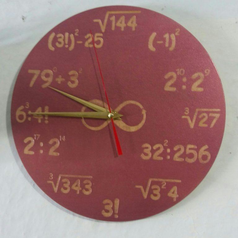 Laser Cut Math Wall Clock Free CDR Vectors Art
