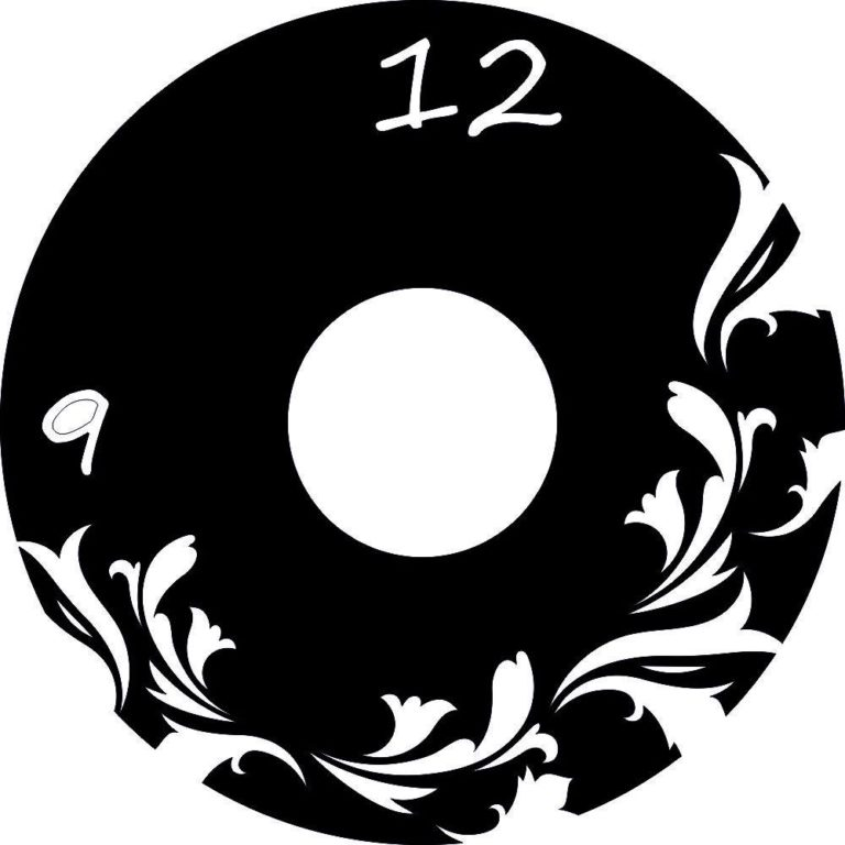 Laser Cut Flowers Vinyl Record Wall Art Clock Template Free CDR Vectors Art