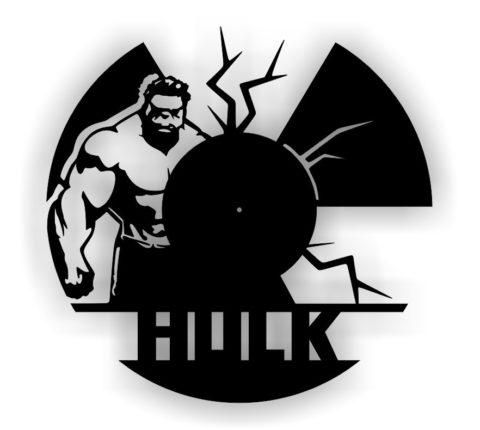 Laser Cut Hulk Cutting Vinyl Clock Free CDR Vectors Art