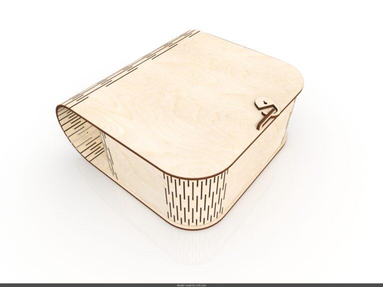 Laser Cut Wood Box Purse Free CDR Vectors Art