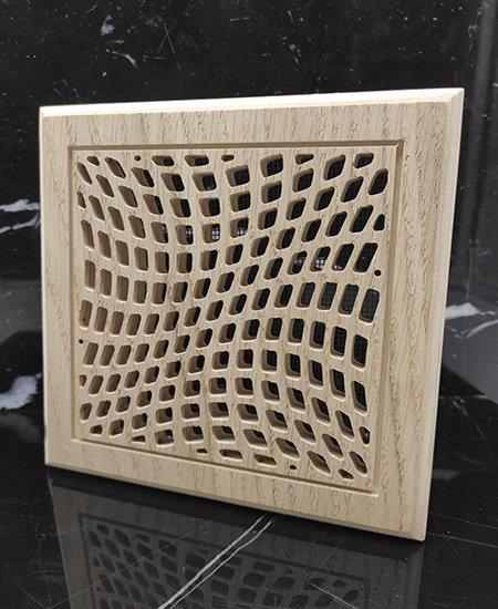 Square Wooden Ventilation Grill Pattern Free AI File