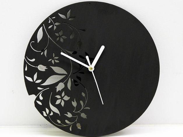 Laser Cut Floral Clock Free AI File