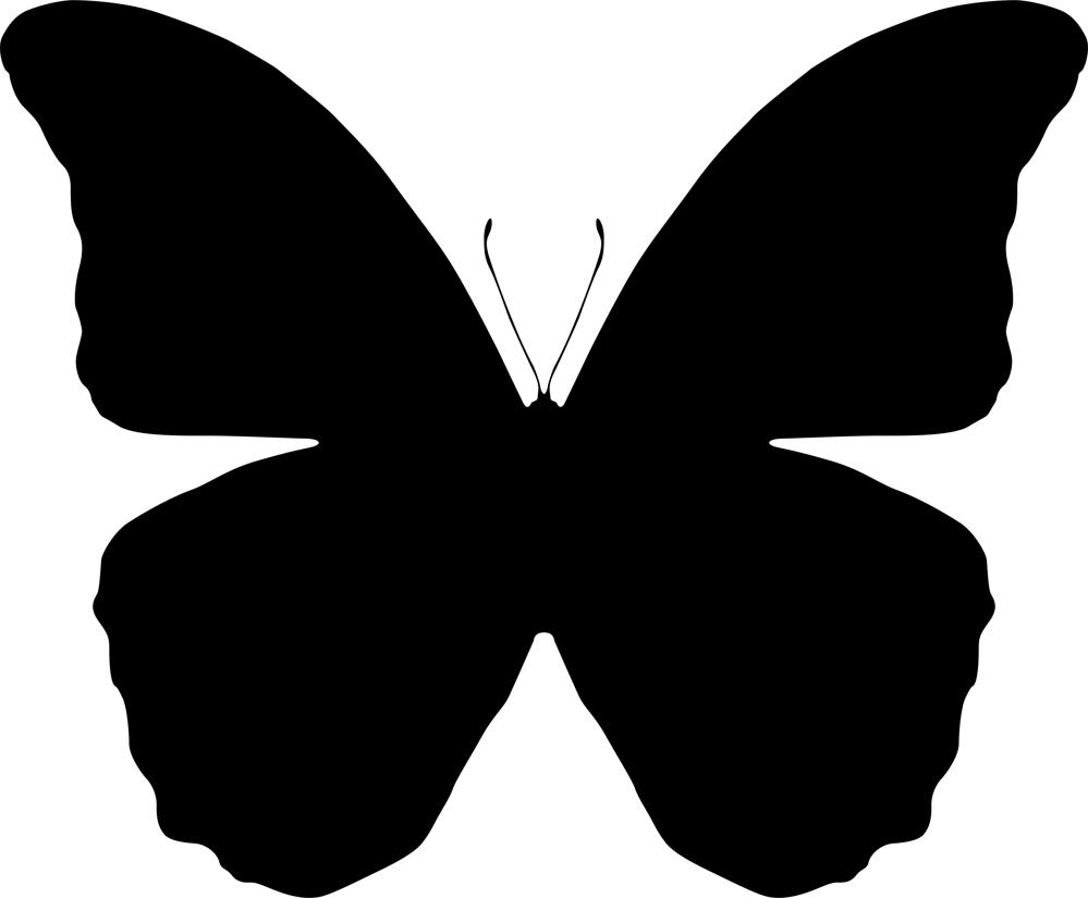 Butterfly Silhouette Vector Art Free AI File